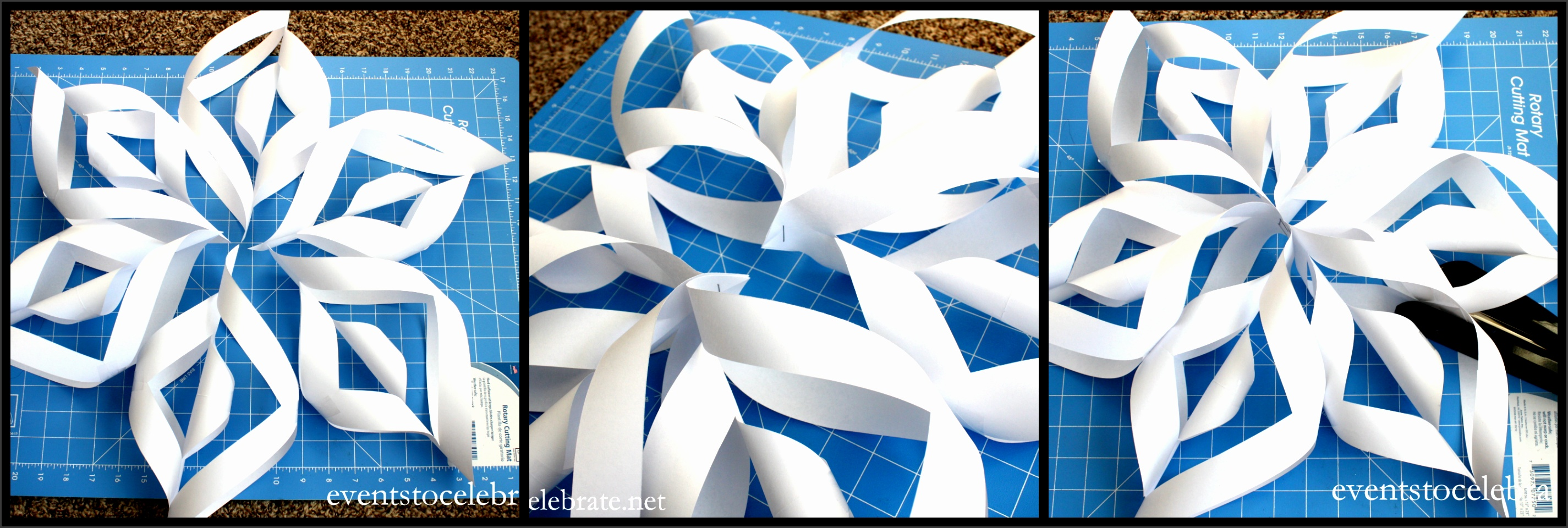 3D Paper Snowflake Tutorial events to CELEBRATE