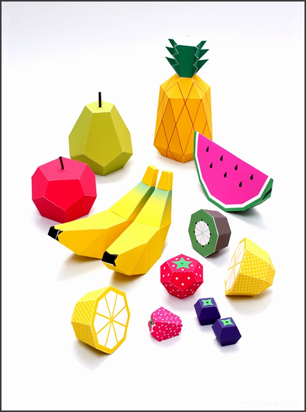 Play fruit paper toys by Mr Printables templates 2
