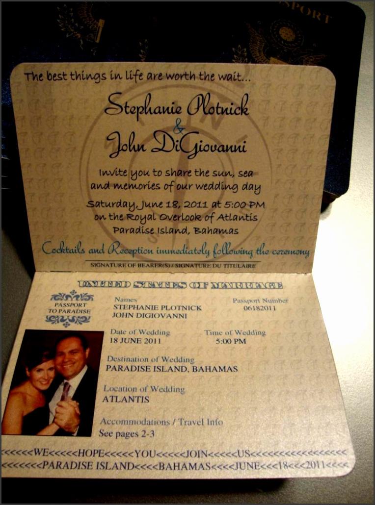 7 Passport Wedding Invitations Template - SampleTemplatess ...