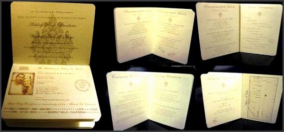 DIY Wedding Challenge 2010 Elegant Passport InvitationsProject