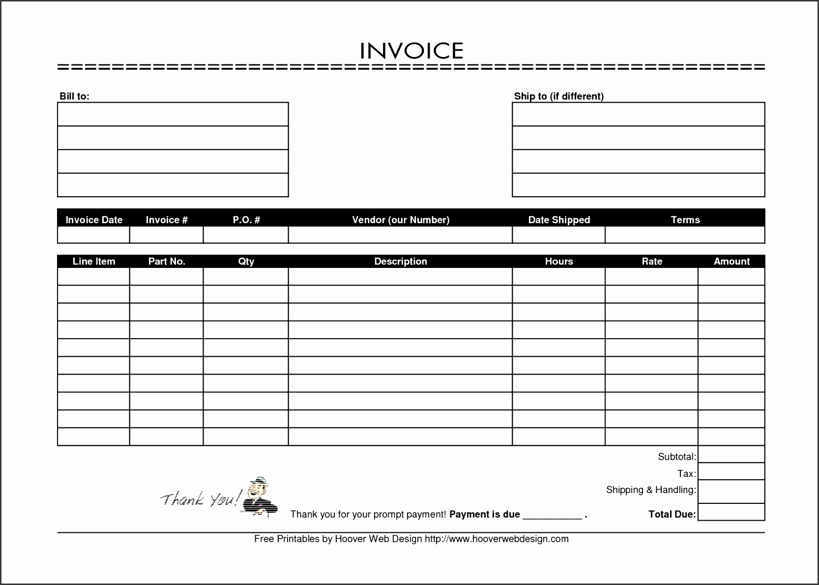 Payroll Invoice Template and Free Invoice software Small Business