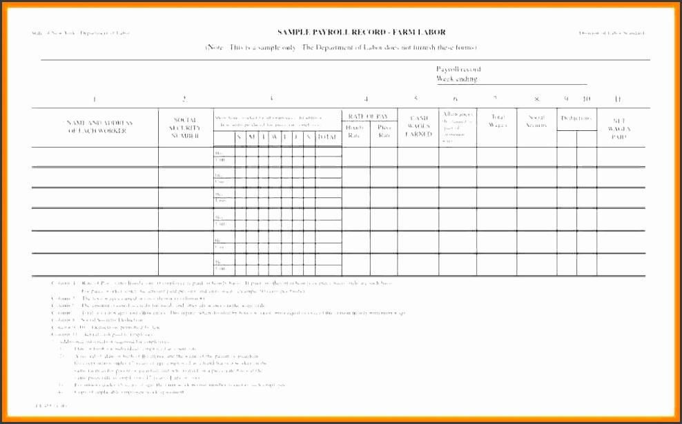 10 sample of payroll sheet