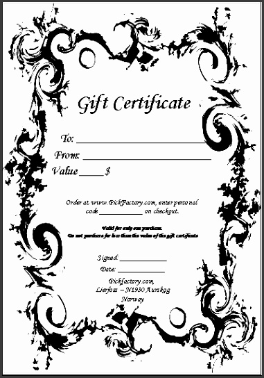 custom made t certificates