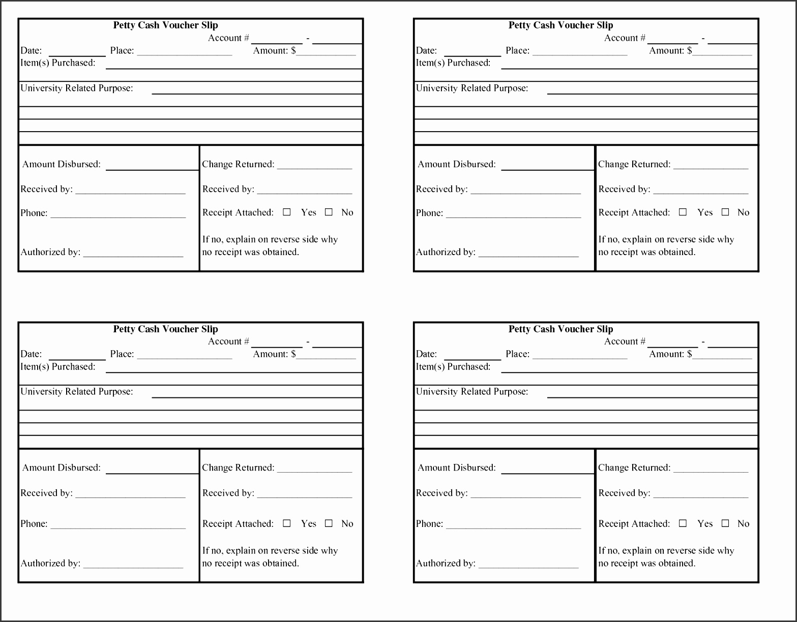6 petty cash advance form template