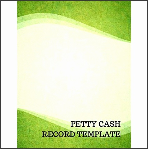Petty Cash Record Template Journals for All