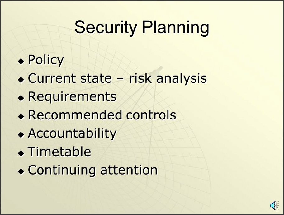 2 Chapter 8 – Administering Security  Security Planning  Risk Analysis  Security Policies  Physical Security