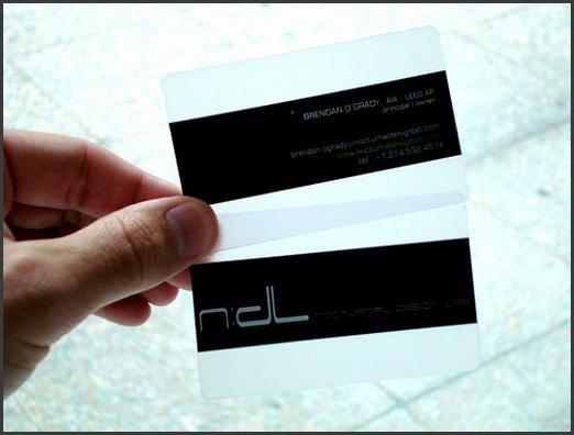Plastic Business Cards Inspiration 29 Unique Examples