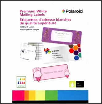 Polaroid Premium White Mailing Labels Blank Self Adhesive Sticker Suitable for All Inkjets Dries