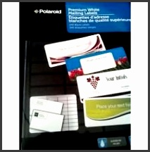 Polaroid Premium White Mailing Labels 240 ct Label Size 2 5 8 x 1