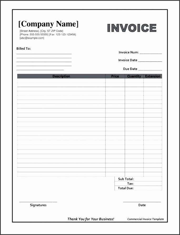printable blank invoices blank invoice form free printable template proforma printable blank invoice forms