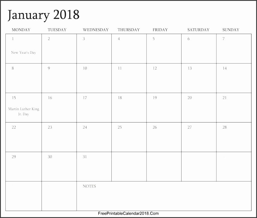 january 2018 editable calendar with holidays