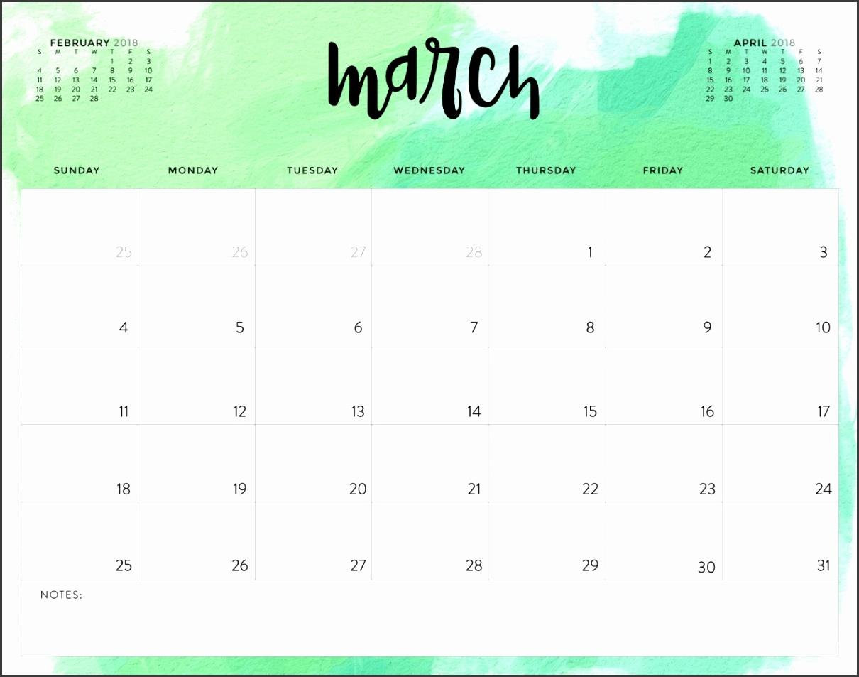 Free Printable Calendar March 2018 1 1
