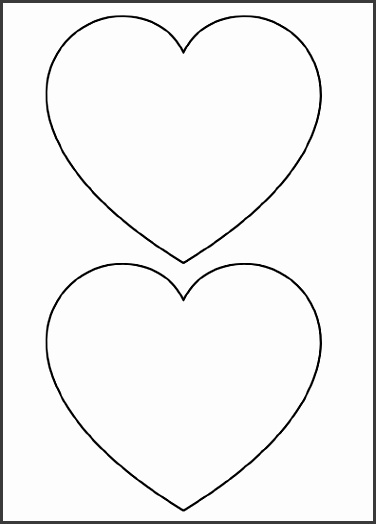 Heart Shapes to Cut Out