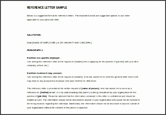 5 Professional Reference Letter Template