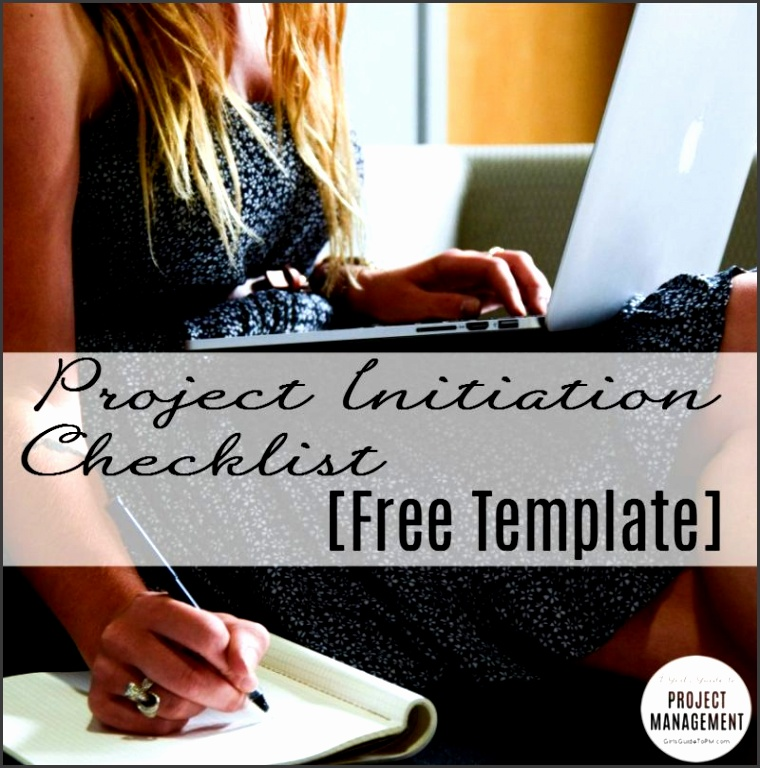 This month s free template is a project initiation checklist