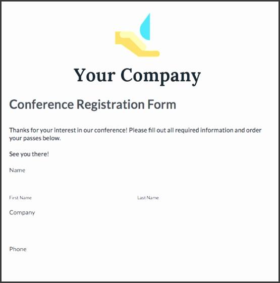 conference registration form template