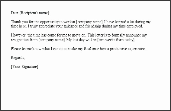 two weeks notice letter template two weeks notice letters resignation letter templates letter of resignation 2