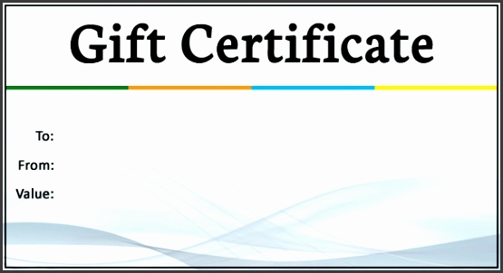 Business Gift Certificate Sample Template Download