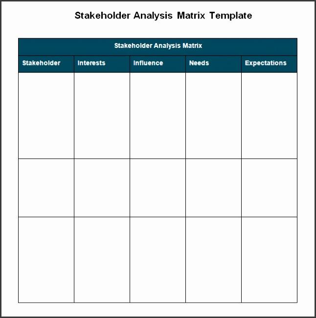 6 Stakeholder Analysis Templates