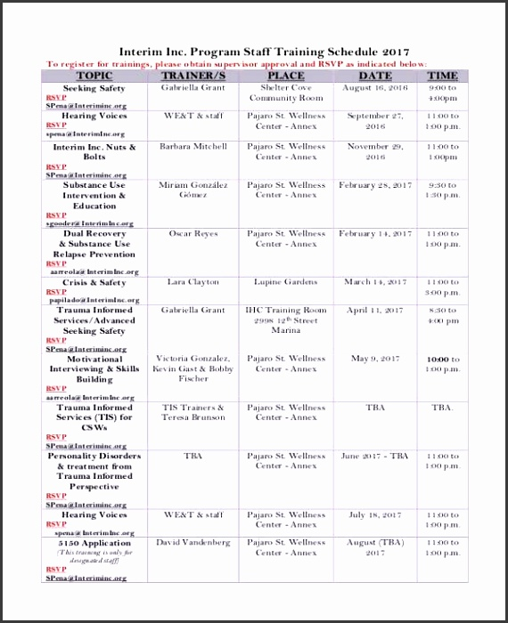 13 Employee Training Schedule Template Free Sample Example for Employee Training Plan Template