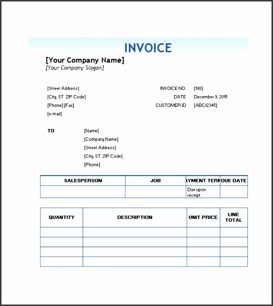 Free Downloadable Service Invoice Template