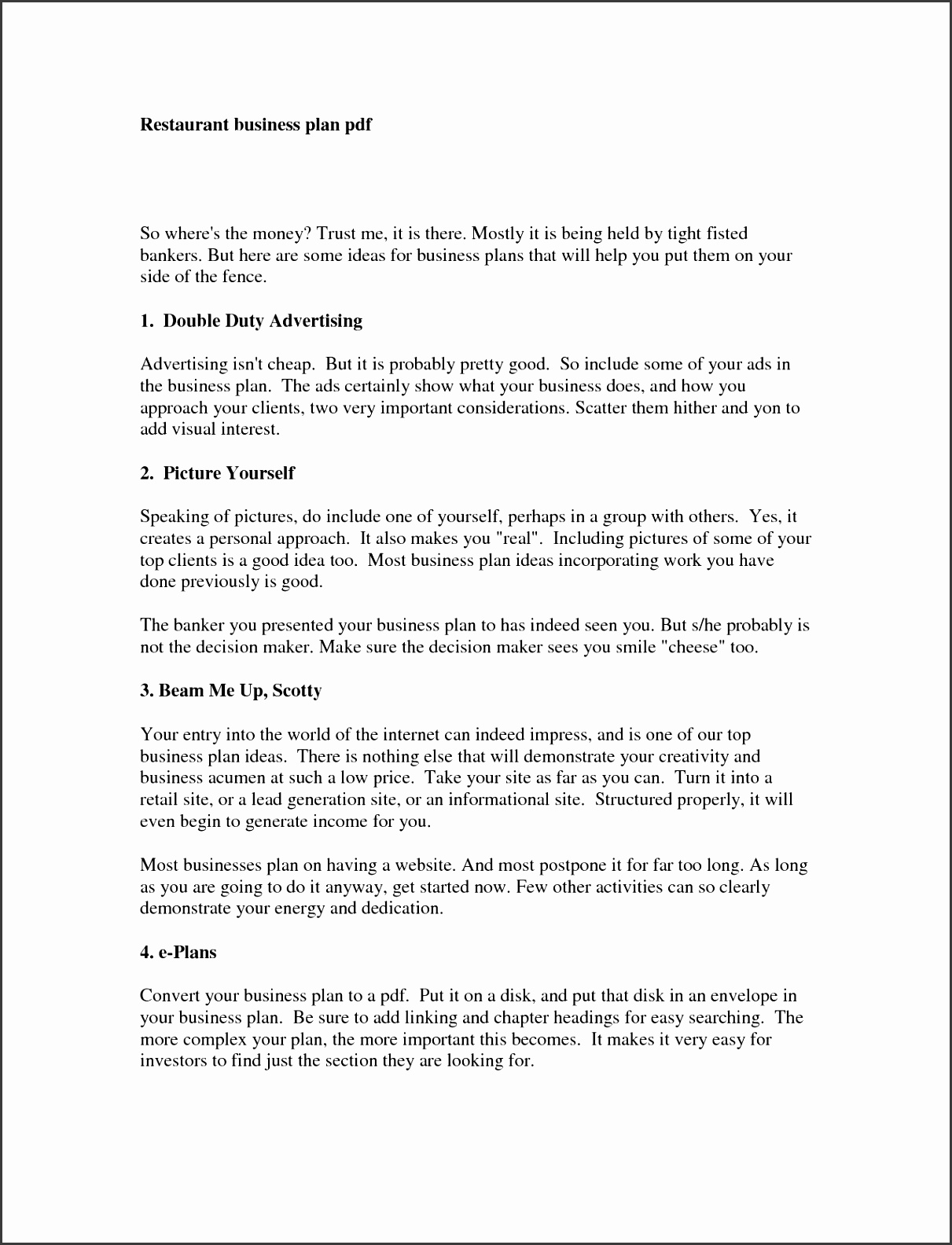 Simple Business Plan Templates SampleTemplatess SampleTemplatess - Business plan template simple
