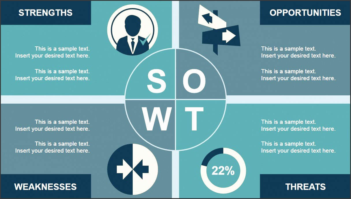 Retro SWOT Analysis PowerPoint Template