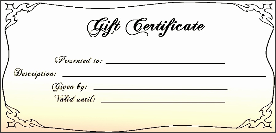 Blank Gift Certificates Templates Blank Gift Certificate Template 30 Printable Gift Certificates Free
