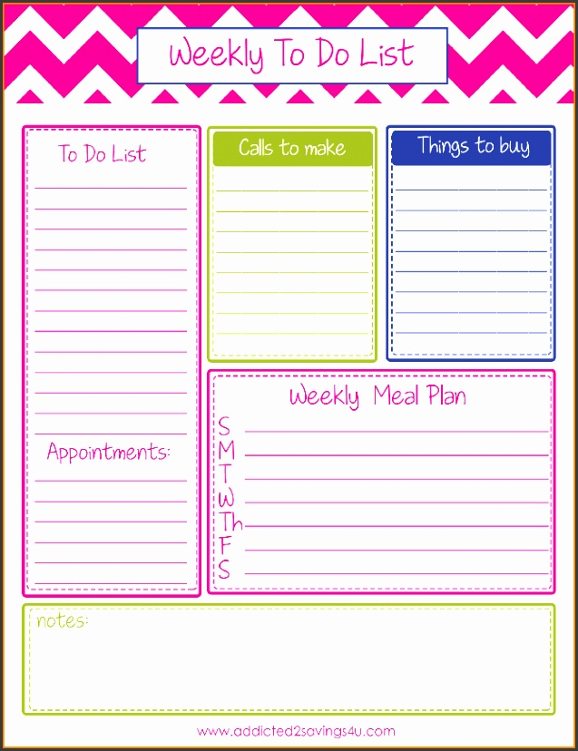 Weekly To Do List Template weekly To Do
