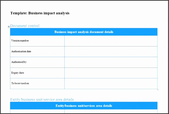 business impact analysis template Excel Templates Pinterest
