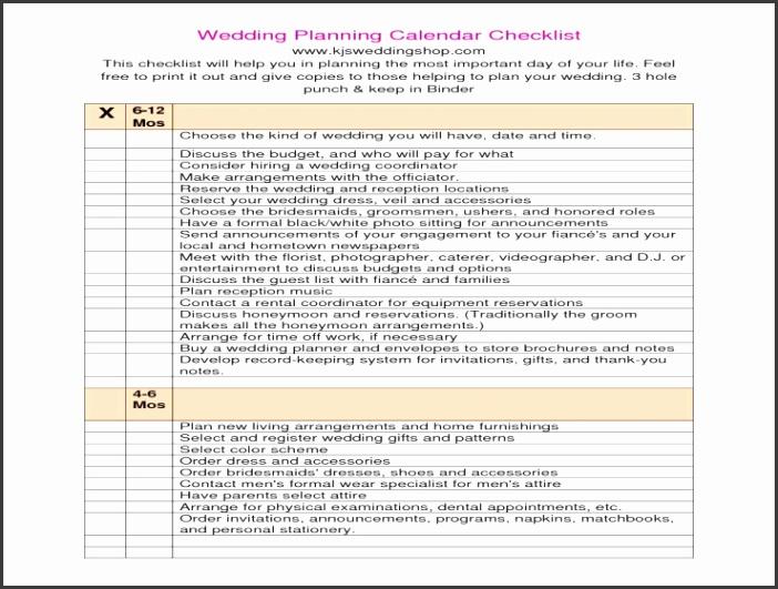 Wedding Planning Checklist Pdf siudy