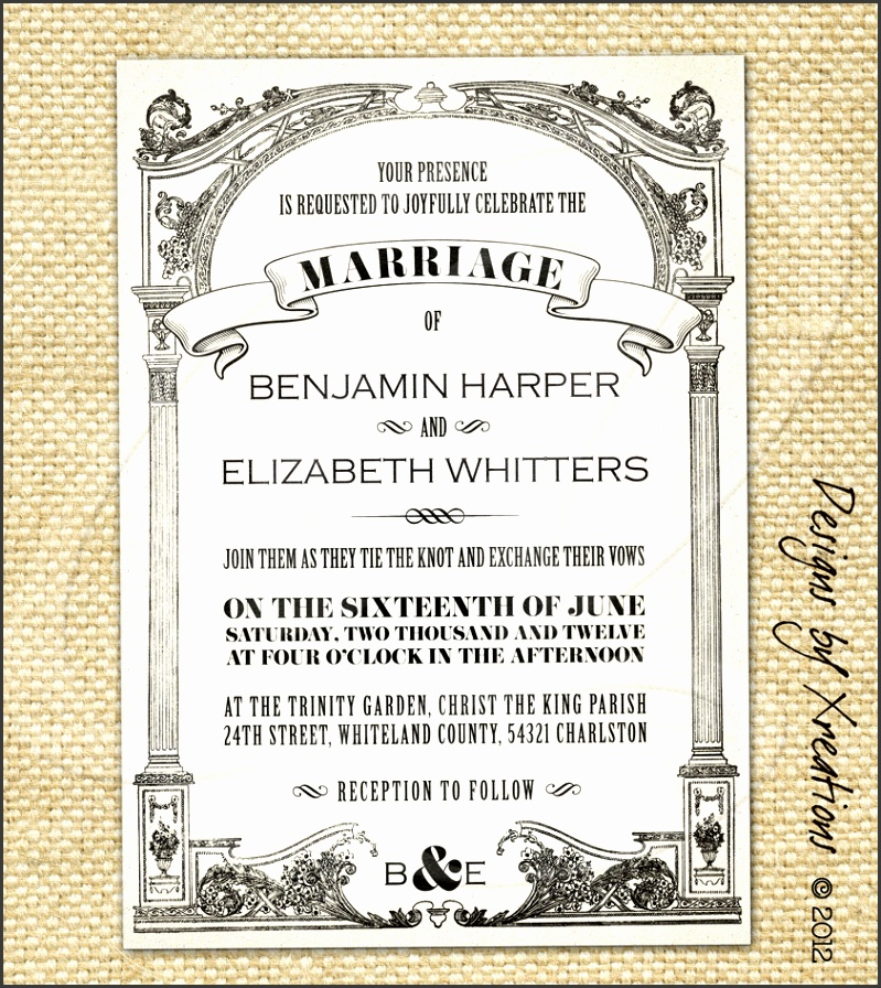 Vintage Wedding Invitations Vintage wedding invitation templates free wedding invitation samples by mail