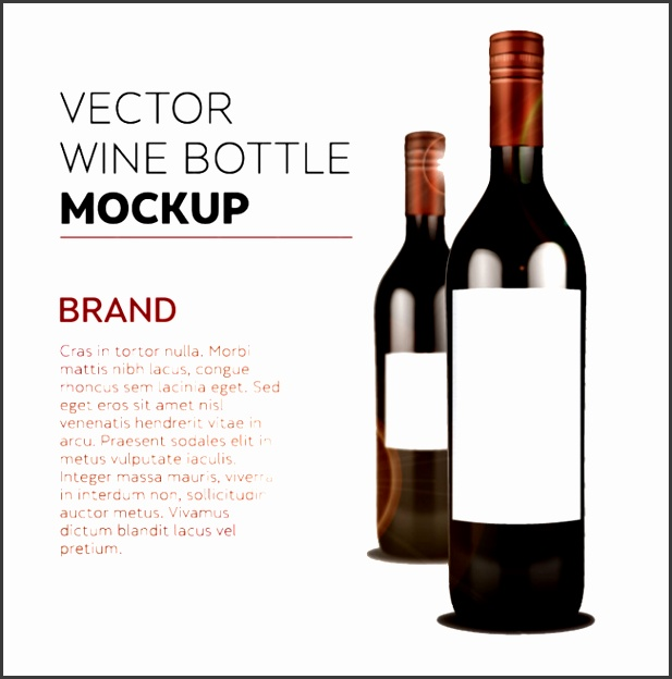 Exquisite wine bottles vector material model Red Wine Bottle Bottle Template Free PNG and Vector