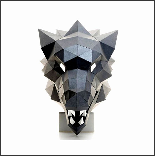 WOLF MASK Printable template DIY