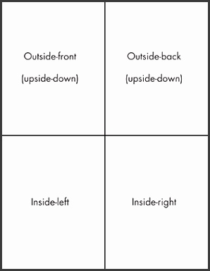 Printing Your Own Greeting Cards In Word 2016 Dummies Blank Half Fold Card Template