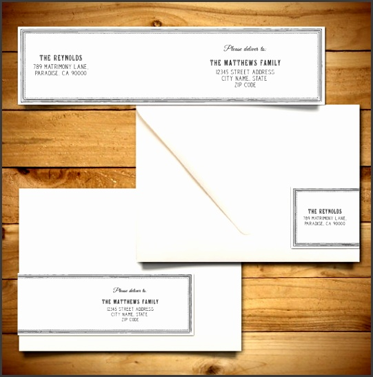 Printable Wrap Around Address Label Template for A7 Envelopes Grey & White Instant Download Editable MS Word Doc Peony Collection