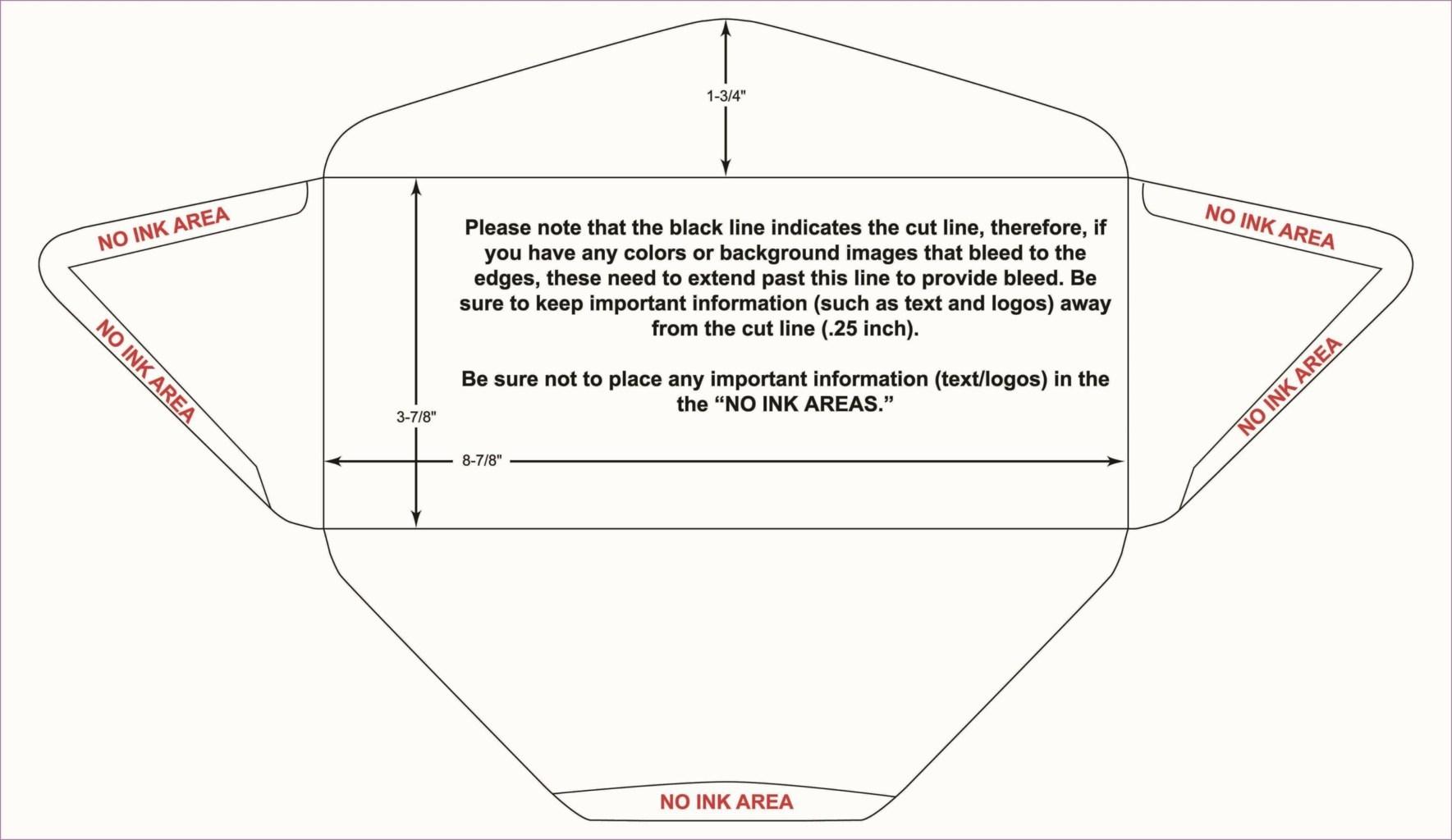 10 envelope template indesign