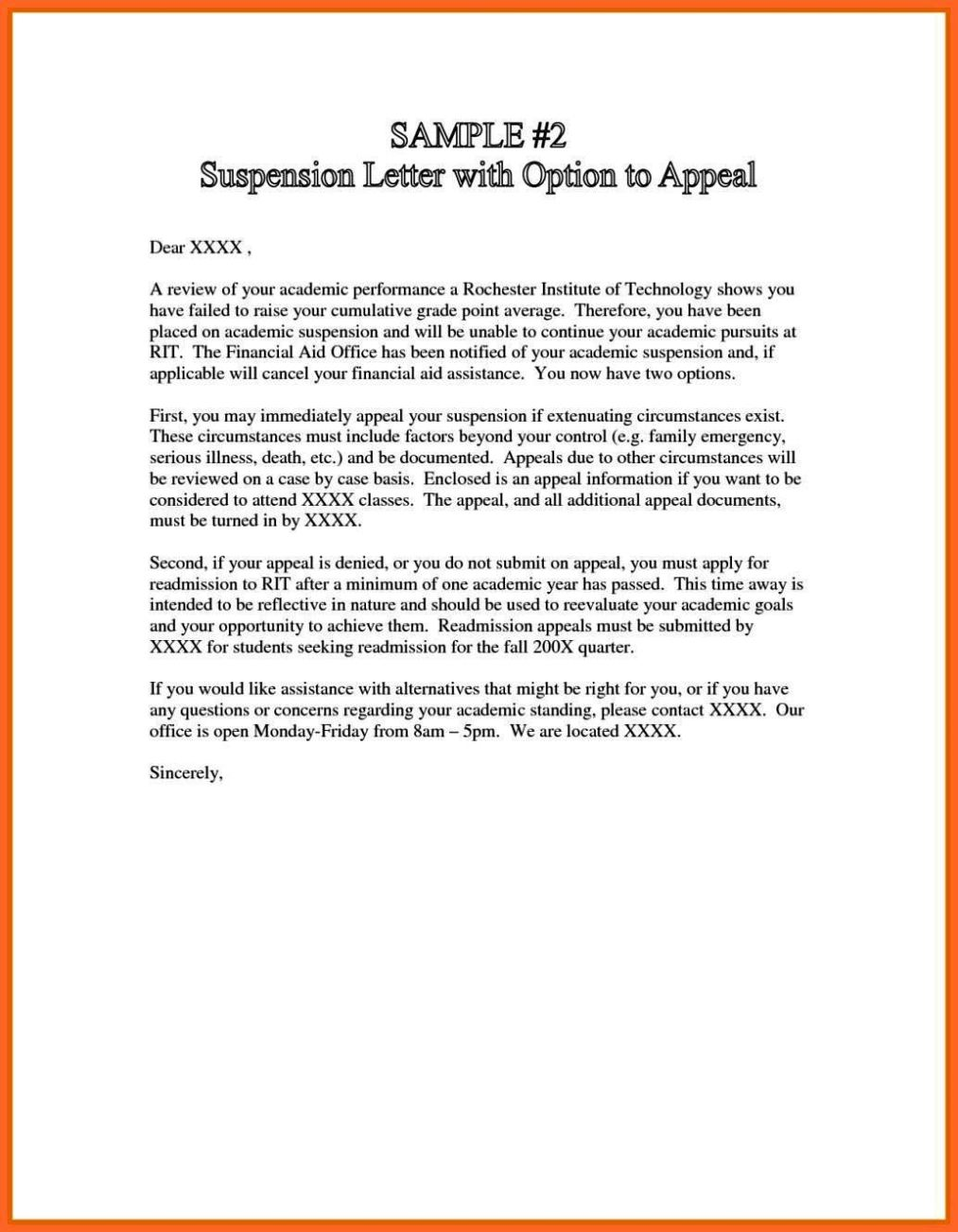 appeal letter for college appeal letter for college suspension sampletemplatess 42305