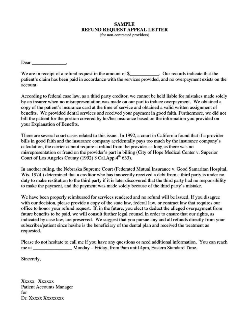 appeal request letter sample