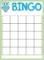 Bingo Sheet Template
