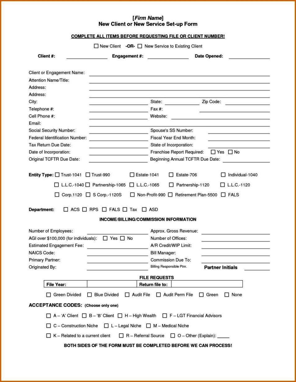 client acceptance form template
