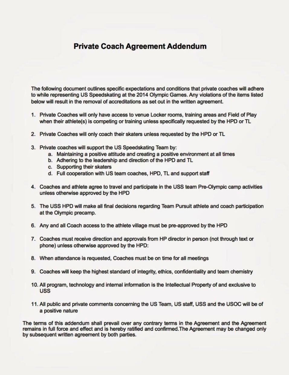 coaching contracts templates