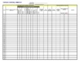 Construction Sign In Sheet Template