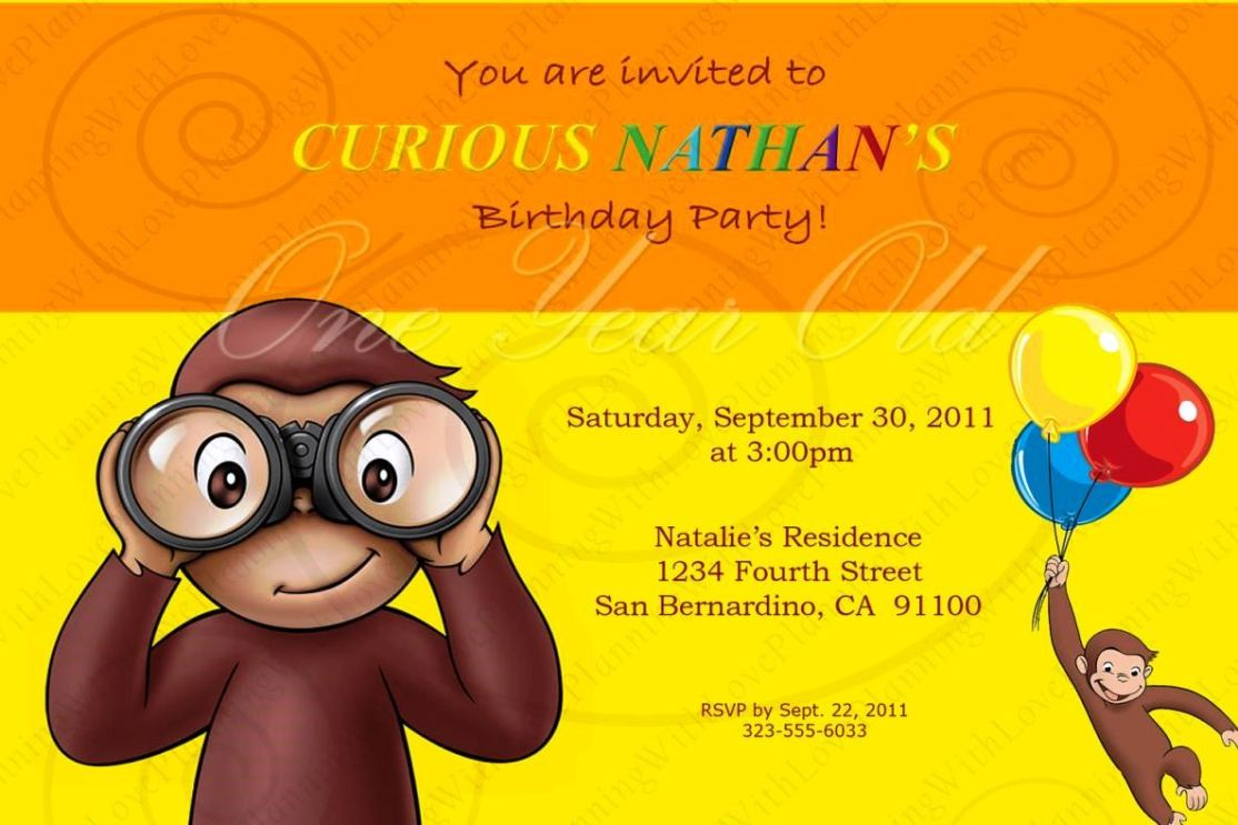 curious george cake template - curious george birthday invitation template