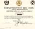 Da Form 2442 Certificate Of Achievement Template