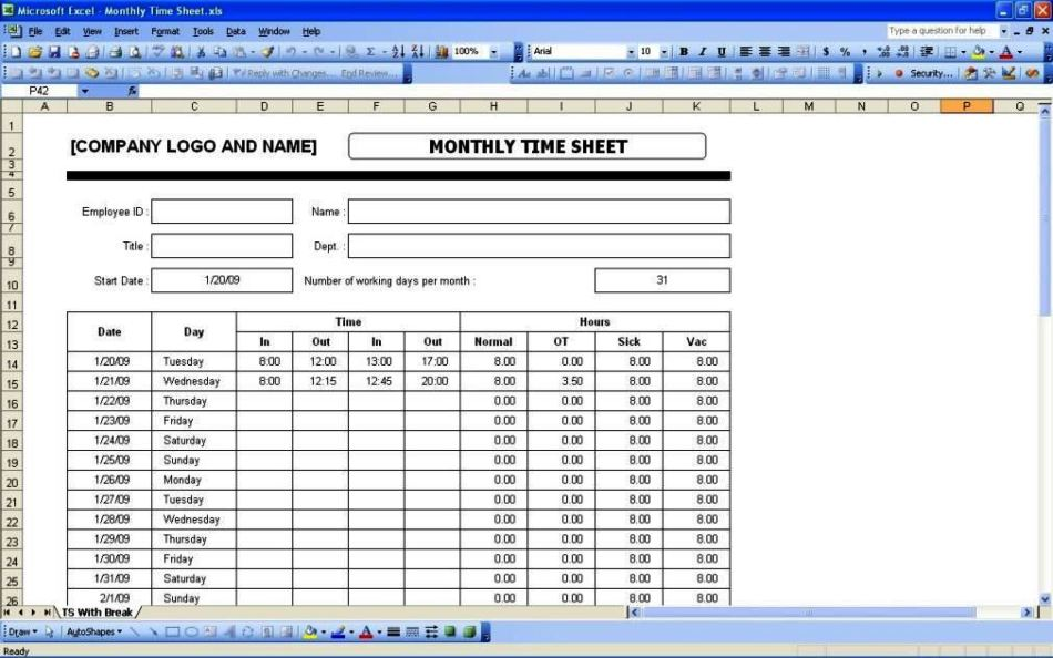 employee timesheet template excel spreadsheet. Black Bedroom Furniture Sets. Home Design Ideas