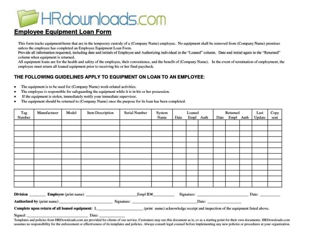 equipment loan agreement template sampletemplatess. Black Bedroom Furniture Sets. Home Design Ideas