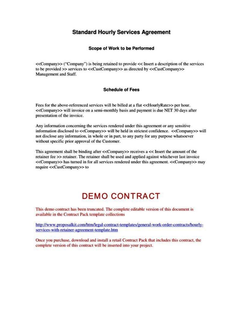 fee for service agreement template