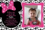 Free Minnie Mouse Birthday Invitations Templates