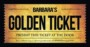 Golden Ticket Invitations Template